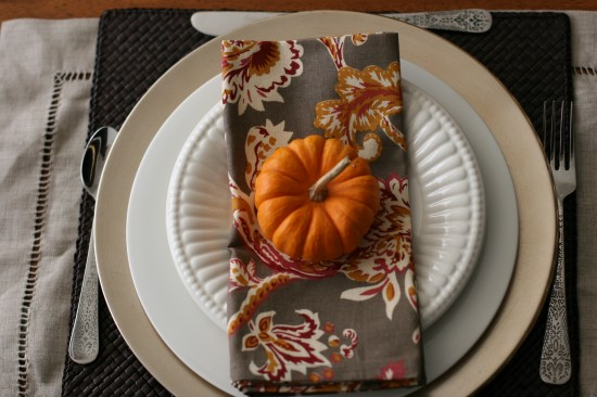 Mini Pumpkin Place Setting