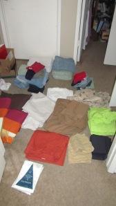 Get Organized - Linen closet - sorting