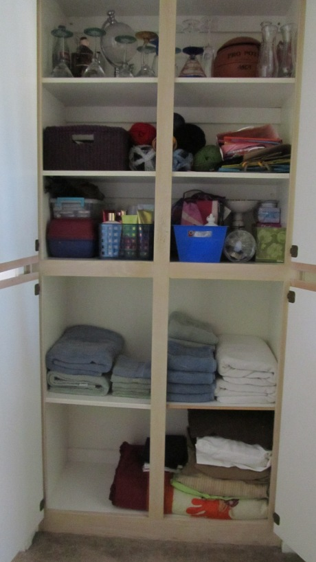 Organized Linen Cabinet - After Image
