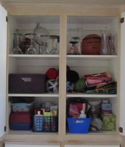 Studio Em Interiors - Get Organized - Linen Closet - Upper Section - Organized