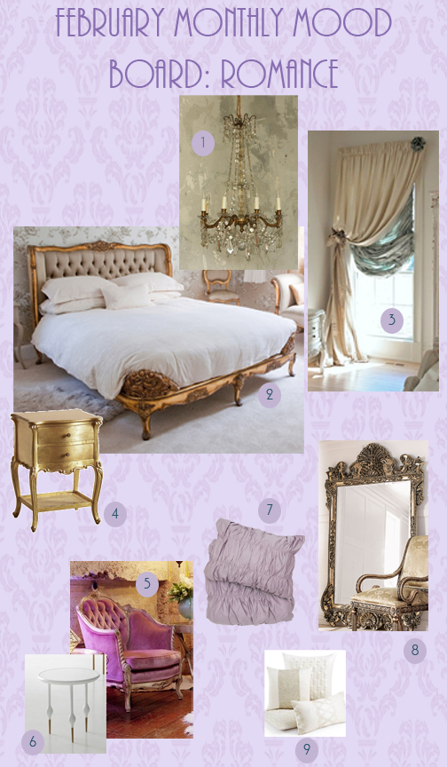 Finds - February - Monthly Mood Board - Romance