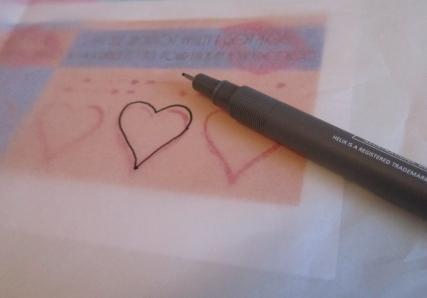 Valentine Scratchers  - Step 4