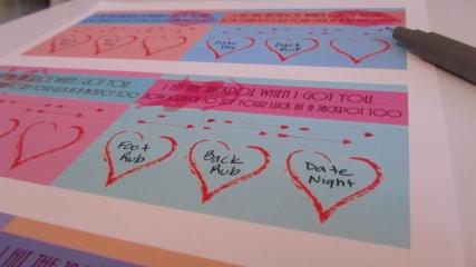 Valentine Scratchers  - Step 5