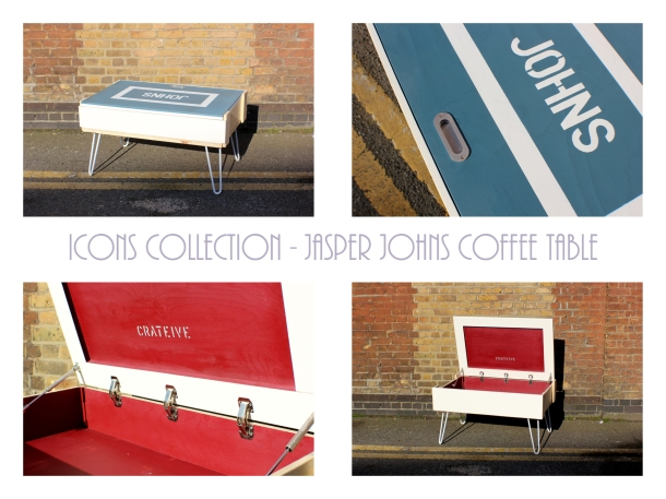 CRATEive - ICONS Collection - Jasper Johns Coffee Table