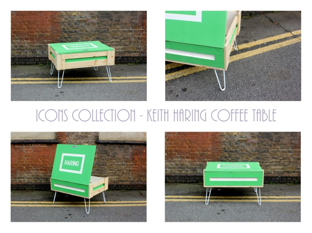 CRATEive - ICONS Collection - Keith Haring Coffee Table