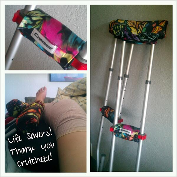 FINDS Blog - Crutcheze Crutch Pads - Life savers if you are ever on crutches