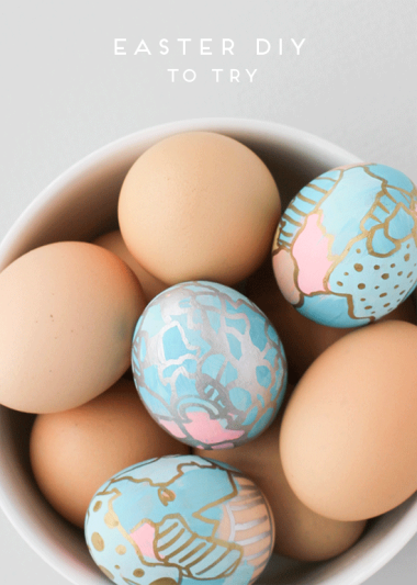 Graffiti Art Easter Eggs via Paper & Stitch