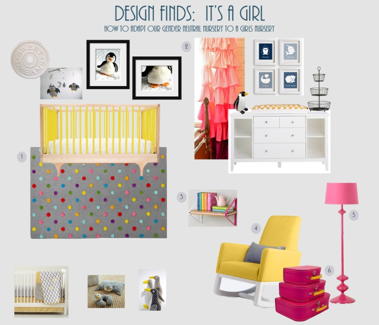 Design Finds - Its A Girl - How to Adapt our Gender Neutral Nursery to a Girls Nursery