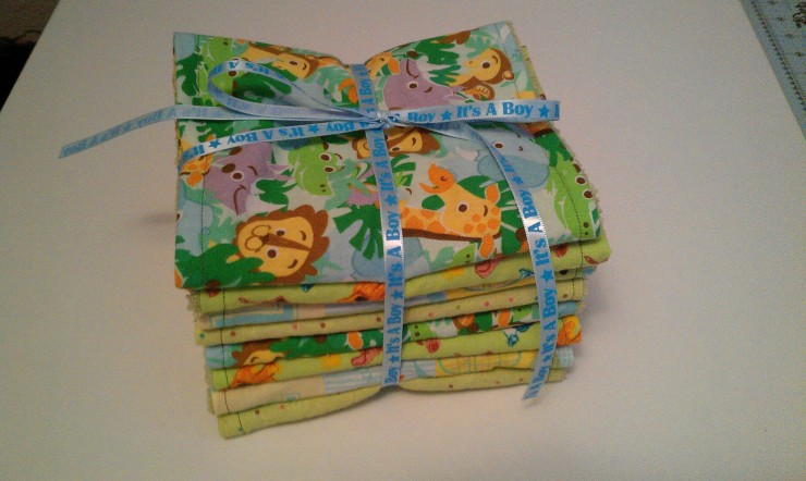 DIY Day – Hand Made Burp Cloths for Mom and Baby - Tutorial on the F.I.N.D.S. Blog via Studio Em Interiors