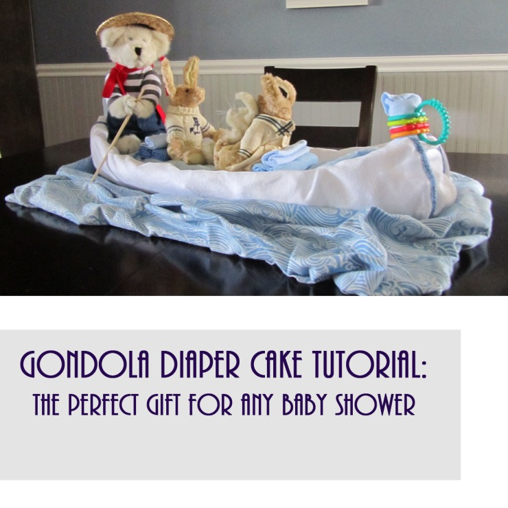 Gondola Diaper Cake DIY - A Step by Step Guide