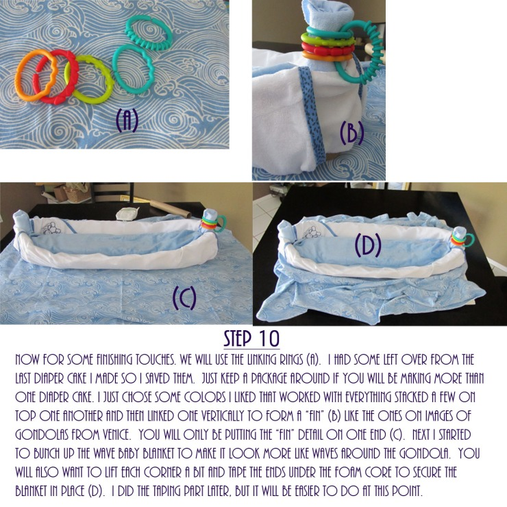 Gondola Diaper Cake DIY - Step 10