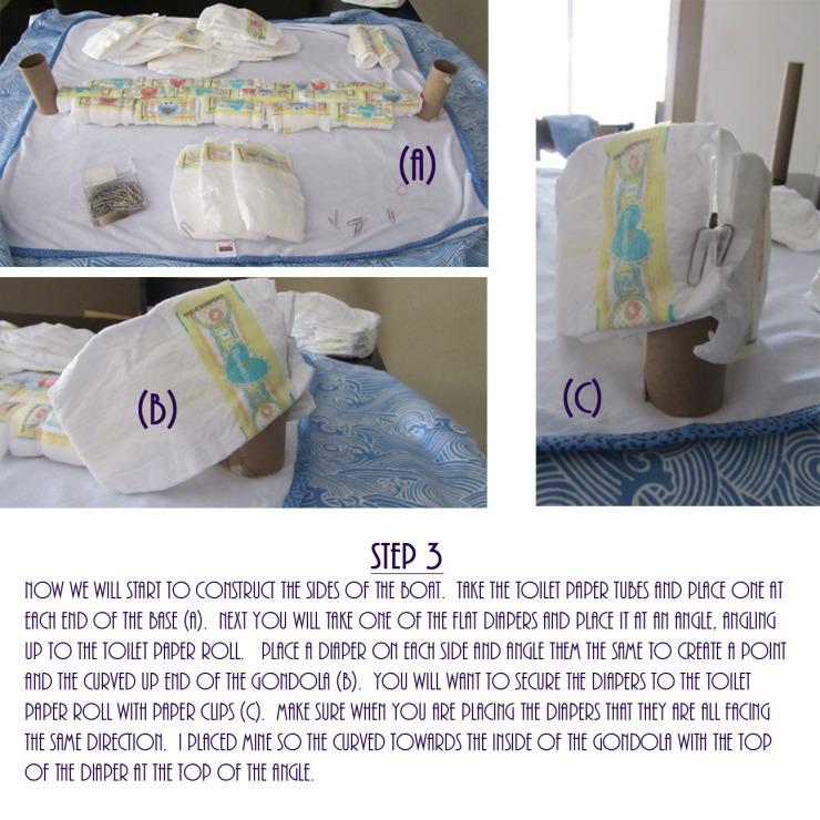 Gondola Diaper Cake DIY - Step 3