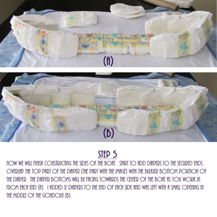 Gondola Diaper Cake DIY - Step 5
