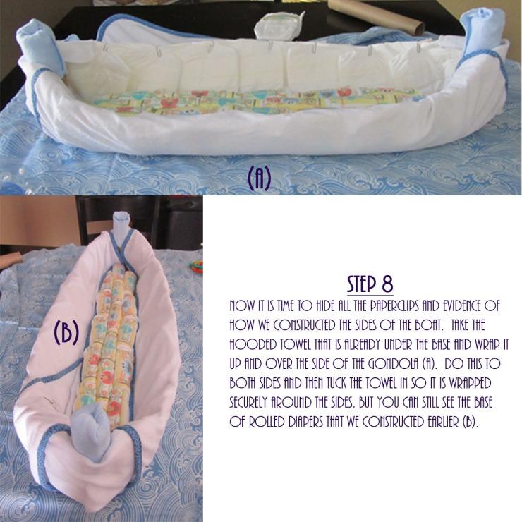 Gondola Diaper Cake DIY - Step 8