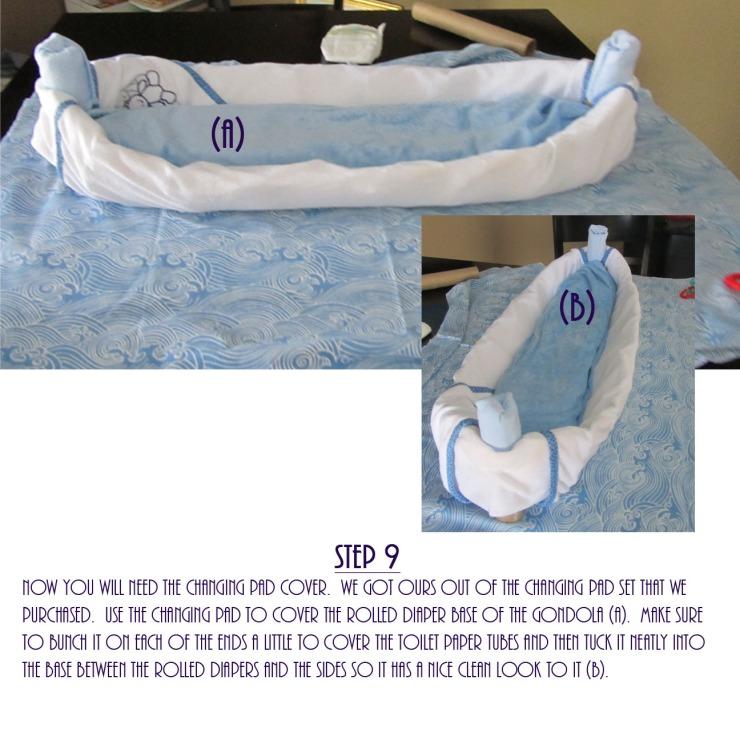 Gondola Diaper Cake DIY - Step 9