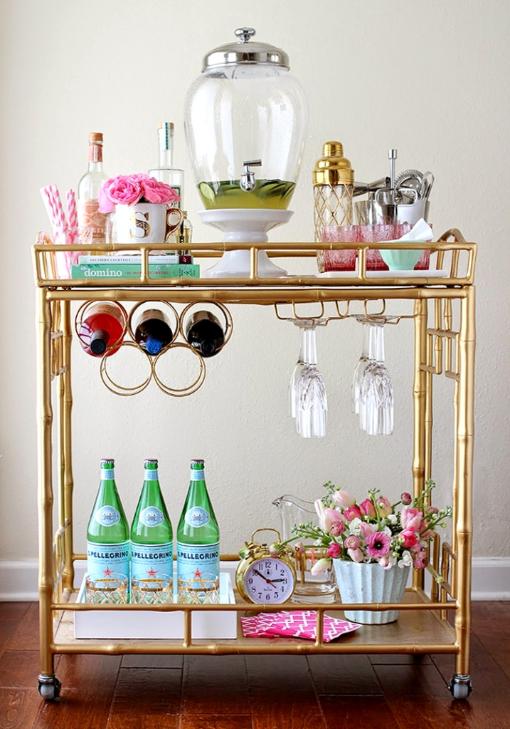 5 Tips to Design the Perfect Home Bar - Stylish Bar Cart