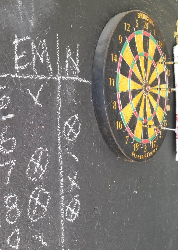 Dartboard DIY - Man Cave Fun and Games - Chalkboard Backing