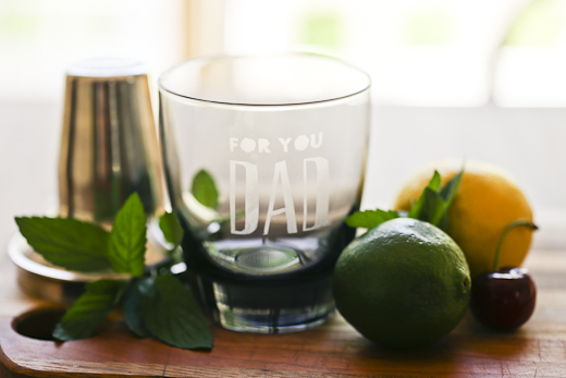 FINDS - Fathers Day Gift Guide - Etched Glass Gift Basket