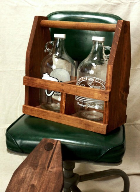 FINDS - Fathers Day Gift Guide - Wooden Craft Beer Growler Carrier on Etsy