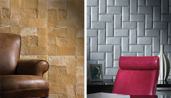 FINDS - Leather for Walls - Garrett Leather Wall Tiles