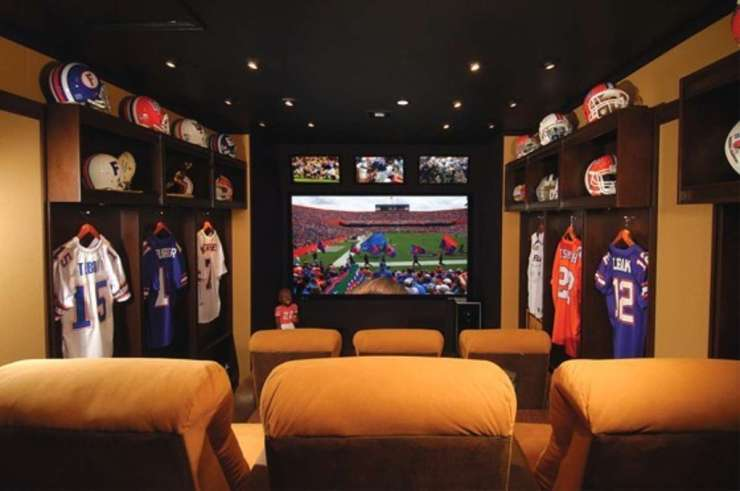 Ultimate Man Cave Roundup - FINDS Favorite Man Caves - Football Locker Room