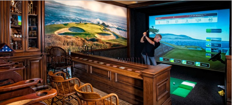 Ultimate Man Cave Roundup -FINDS Favorite Man Caves - Golf Simulator