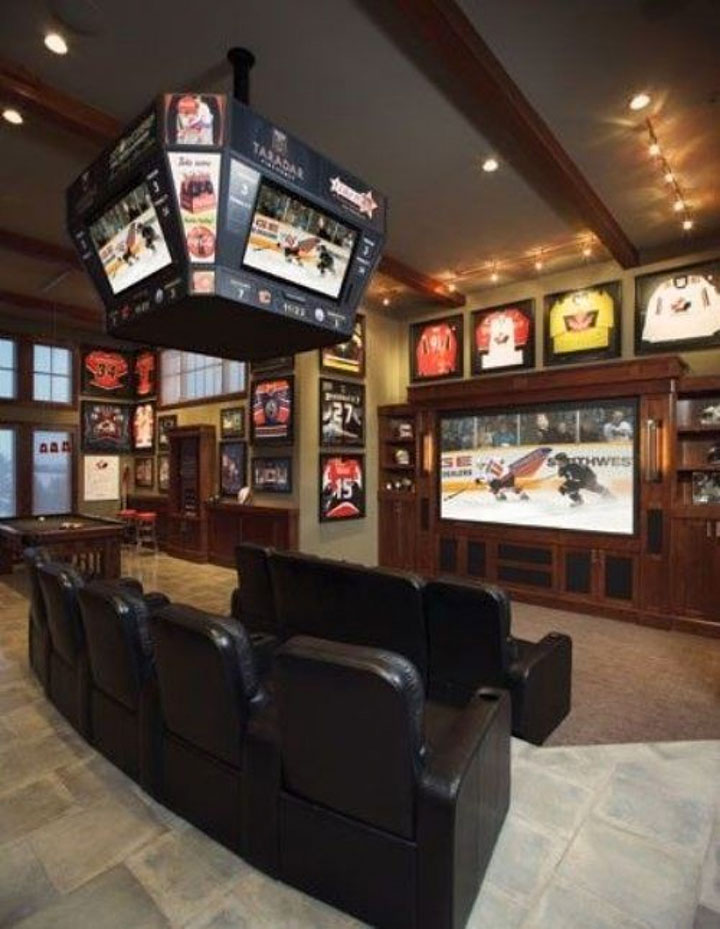 Ultimate Man Cave Roundup -FINDS Favorite Man Caves - Sports Bar