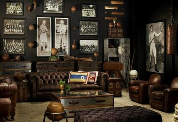 ultimate man cave roundup finds favorite man caves vintage sports room