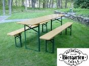 FINDS - Fantastic Furniture Picnic Table - Authentic European Biergarten Table and Bench Set from AuthenticAlpine