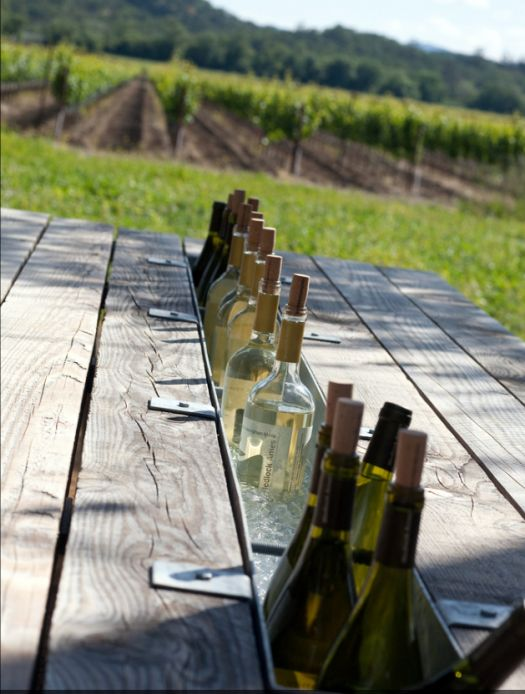 FINDS - Fantastic Furniture Picnic Table - Medlock Ames Tasting Room by Nelson Byrd Woltz Landscape Architects