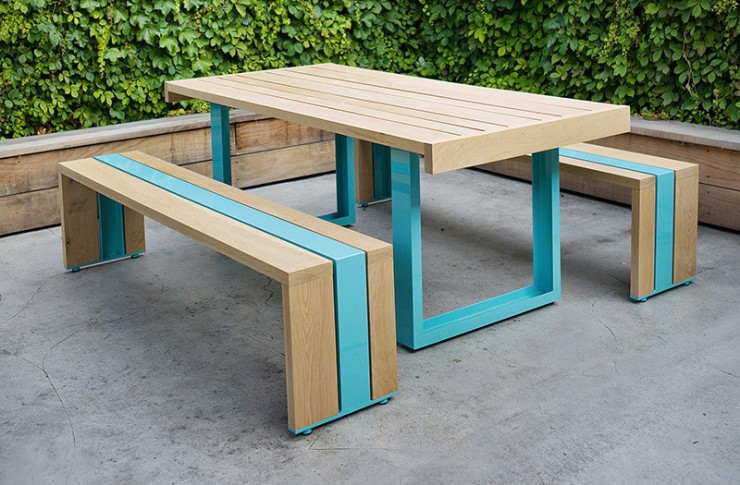 FINDS - Fantastic Furniture Picnic Table - SR White Oak Table Set from Scout Regalia