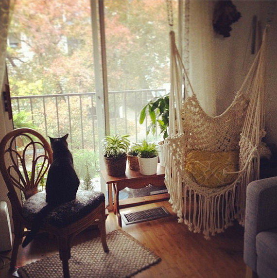 Diy macrame f i n d s for Macrame hanging chair