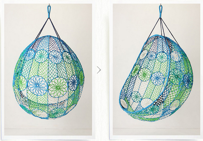 Macrame hanging chair f i n d s for Macrame hanging chair