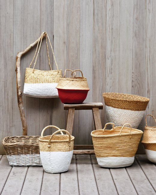 Summer DIY Roundup - Dip-Dyed Baskets