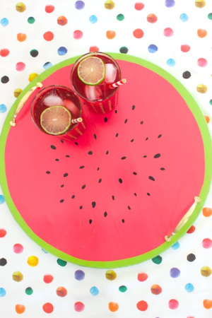 Summer DIY Roundup - DIY Watermelon Serving Tray