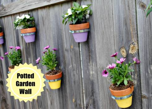 Summer DIY Roundup - Potted Garden Wall