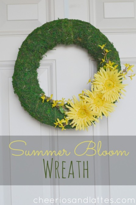 Summer DIY Roundup - Summer Bloom Wreath