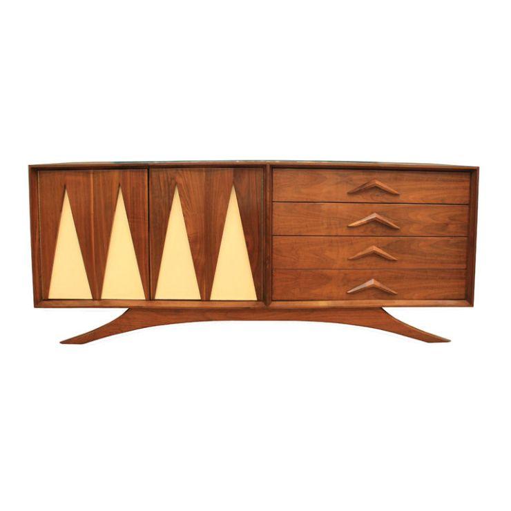Fantastic Furniture - Mid-Century Modern Design - Vladimir Kagan Credenza with Laminate Inserts