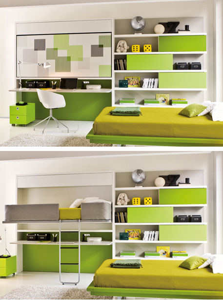 FINDS - Decorigami - Hidden Sleeping Space - Lollidesk Study bed-desk bed