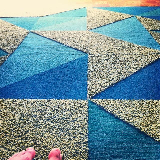 Carpet Tile Rug (image via)