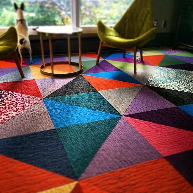 Carpet tiles for an entire room (image via)