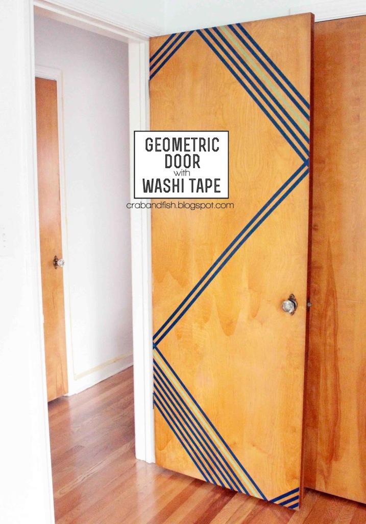 Washi Tape Door Design (image via)