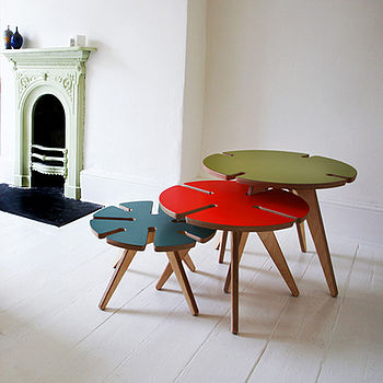 FINDS - Fantastic Furniture - Nesting Tables - Crop Circle Coffee Tables by Jim Leach Design
