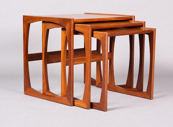 FINDS - Fantastic Furniture - Nesting Tables - Vintage Mid Century - Danish modern Teak Nesting Tables
