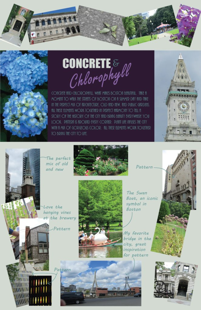 Concrete and Chlorophyll Collection Concept Board