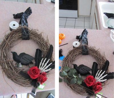 Holiday DIY - Addams Family Wreath Layout
