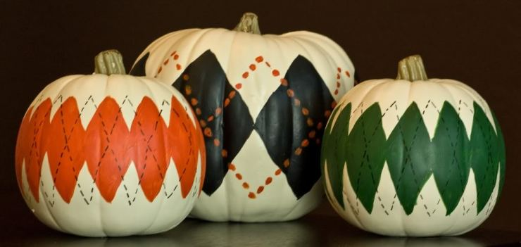 Holiday DIY - Pumpkin Decorating Roundup - Argyle Pumpkins