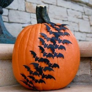 Holiday DIY - Pumpkin Decorating Roundup - Bats Take Flight Pumpkin