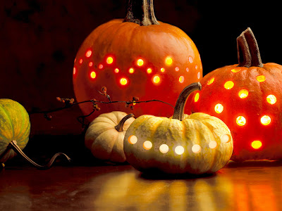 Holiday DIY - Pumpkin Decorating Roundup - Drilled Pumpkins