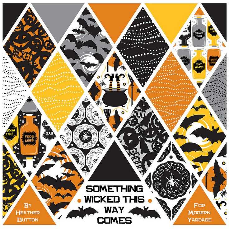 Something Wicked This Way Comes by heather Dutton for Modern Yardage